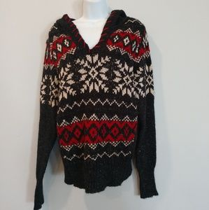 Maurice's winter knit sweater hoodie large